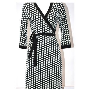 Max Studio Geometrical Wrap Dress
